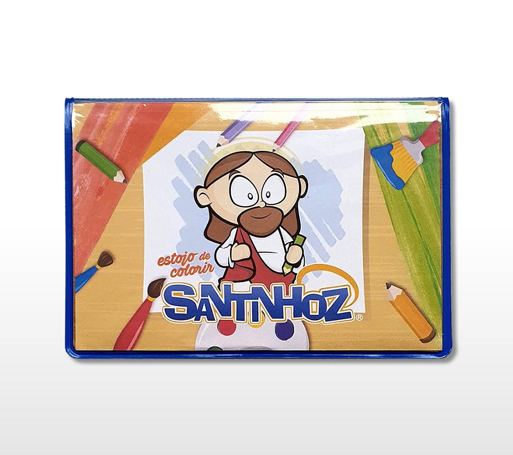 Estojo De Colorir Santinhoz Santinhoz
